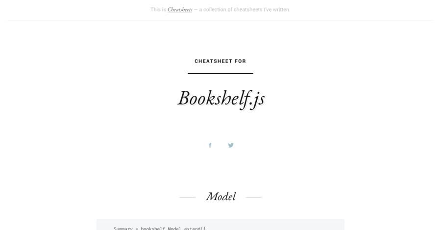 Bookshelf js cheatsheet
