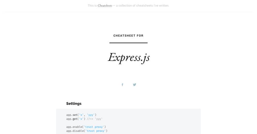 Express js cheatsheet