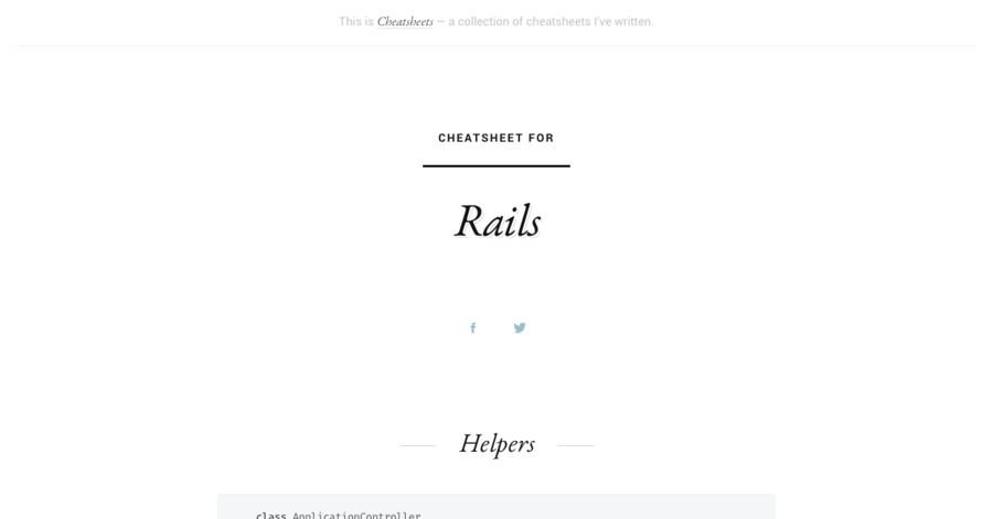 Rails cheatsheet