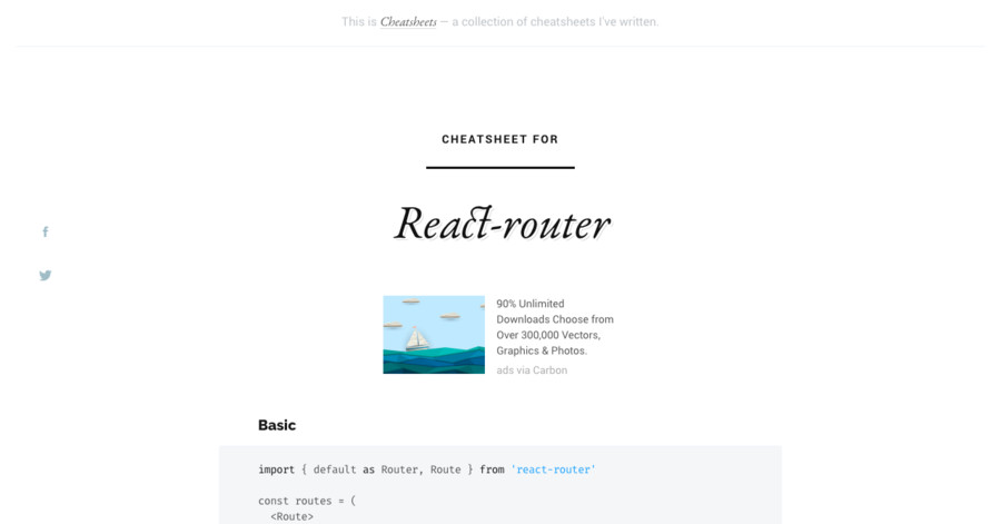React-router cheatsheet